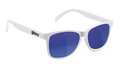 Glassy Deric - White/Blue Mirror - Sunglasses
