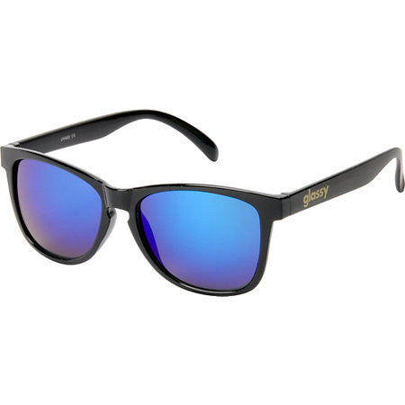 Glassy Deric - Black/Blue Mirror - Sunglasses