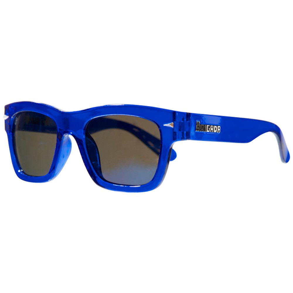 Brigada Big Shot - Clear/Blue w/ Blue Lens - Sunglasses