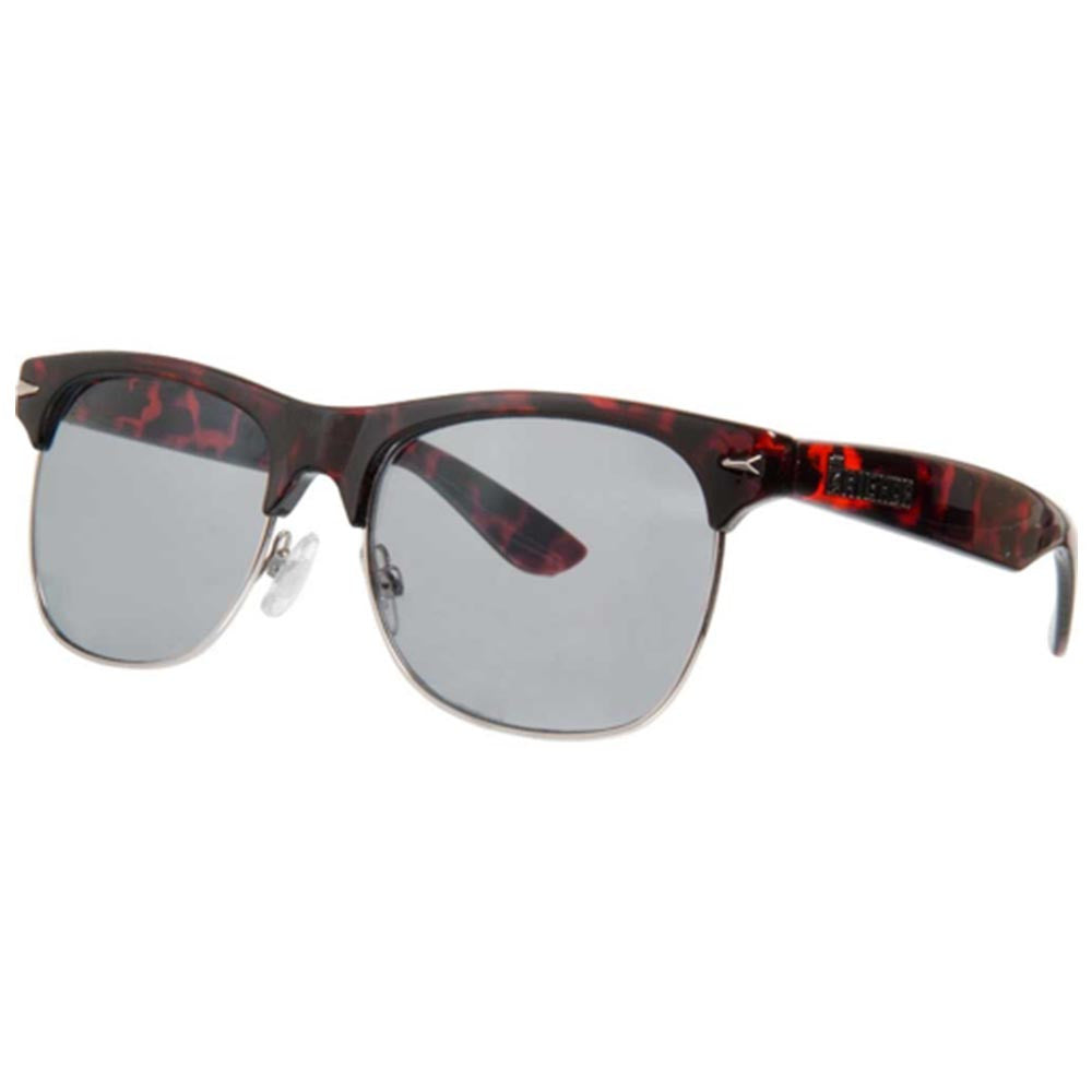Brigada Midtown - Red Tortoise w/ Smoke Lens - Sunglasses
