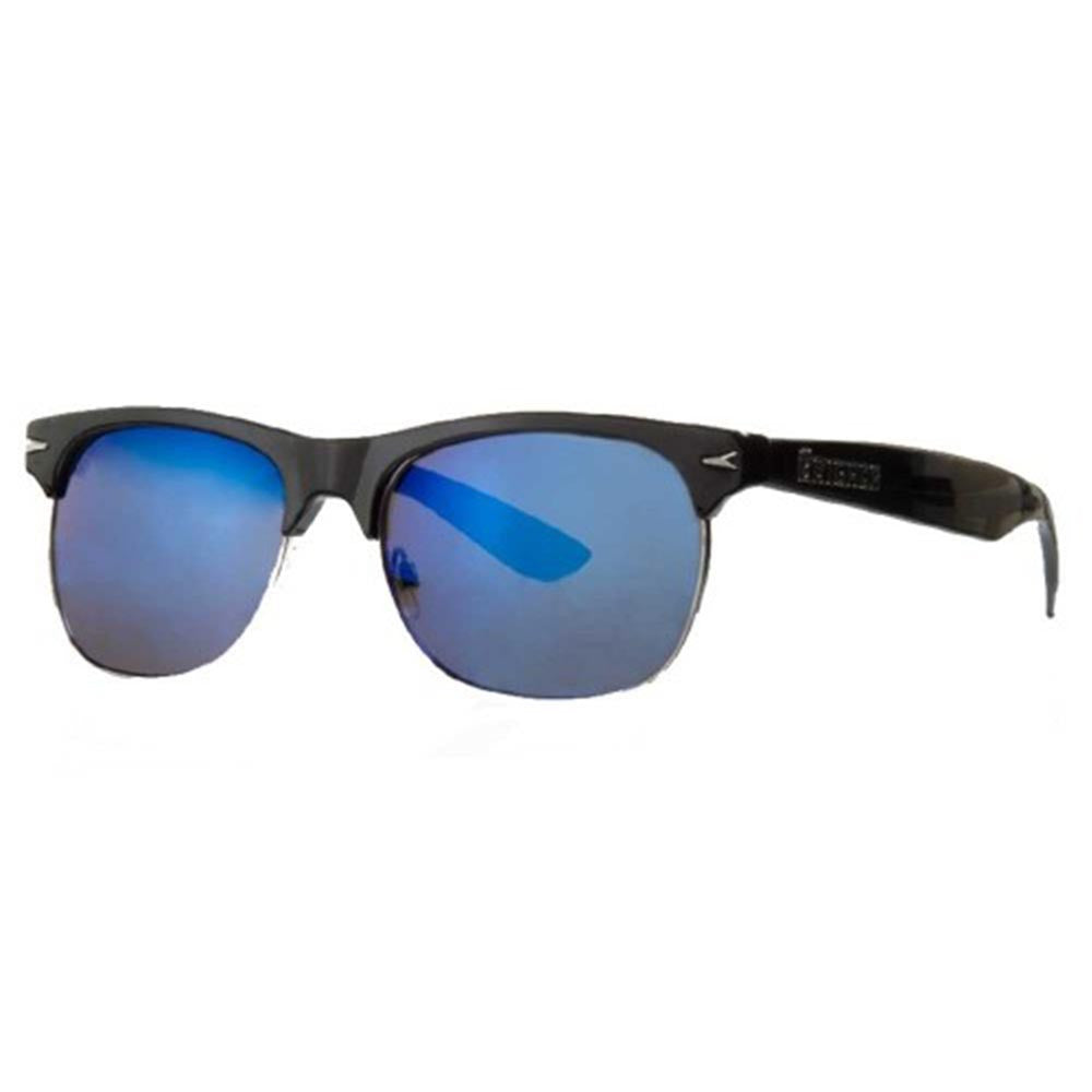 Brigada Midtown - Black w/ Blue Mirrored Lens - Sunglasses
