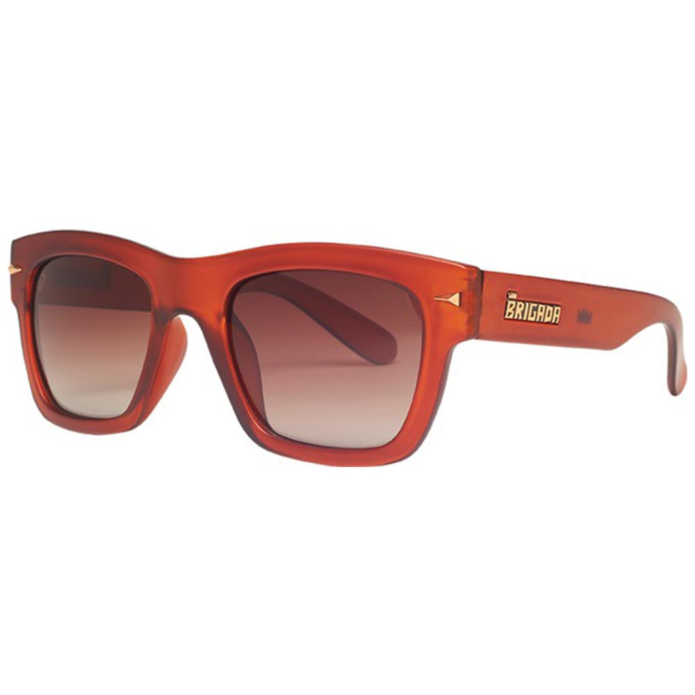 Brigada Big Shot - Root Beer w/ Brown Fade Polarized Lens - Sunglasses