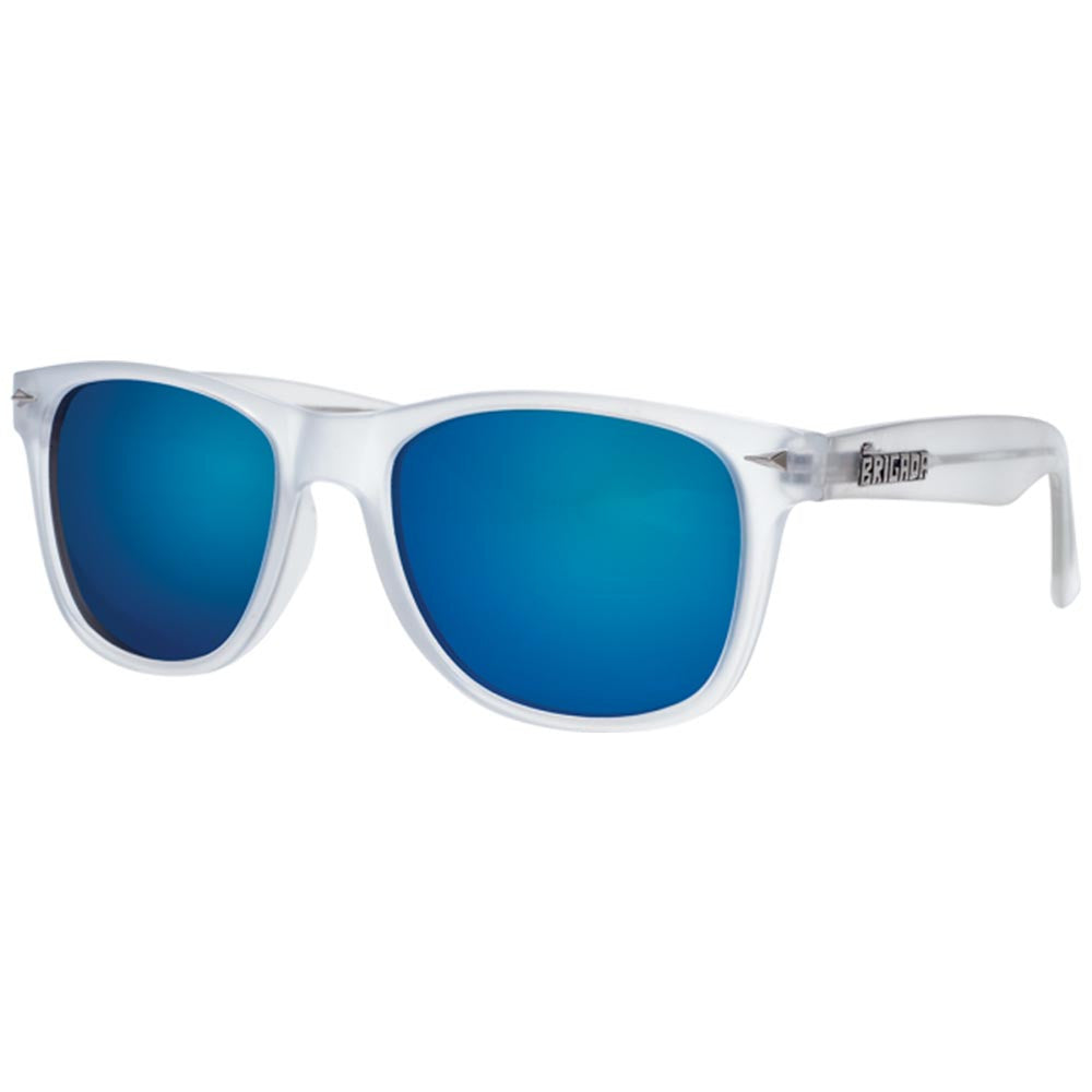 Brigada Lizard King Passion - White/Frost w/ Blue Mirrored Iridescent Lens - Sunglasses