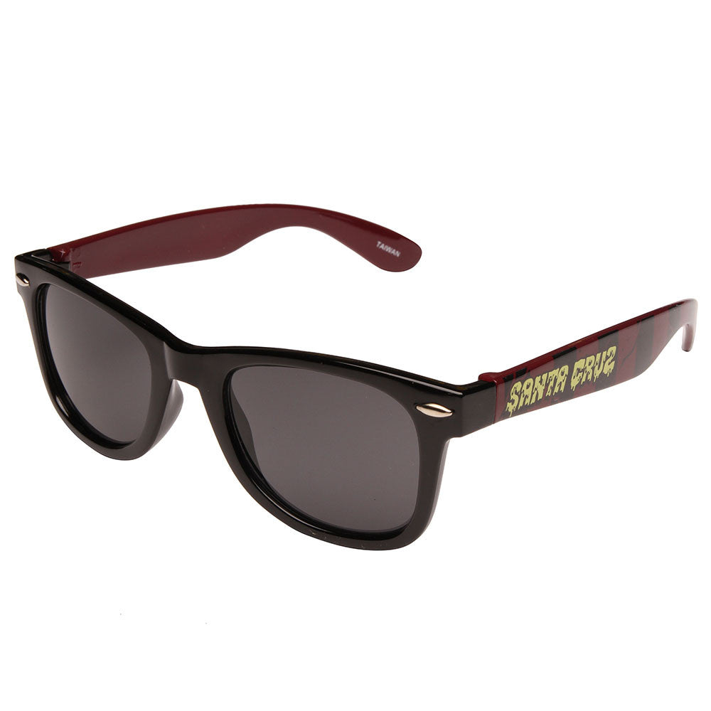 Santa Cruz Break Down Wayfarer O/S - Black/Oxblood - Sunglasses