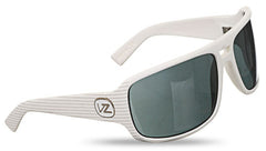 Von Zipper Prowler - White Satin Stripes Frame / Grey Lenss - Sunglasses