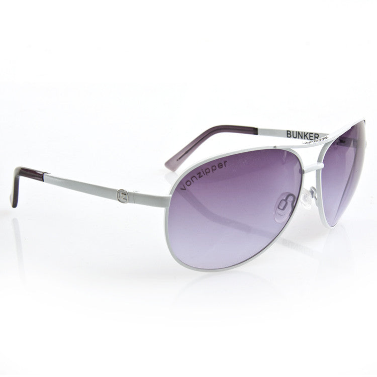 Von Zipper Bunker - White Frame / Gradient Lens - Sunglasses
