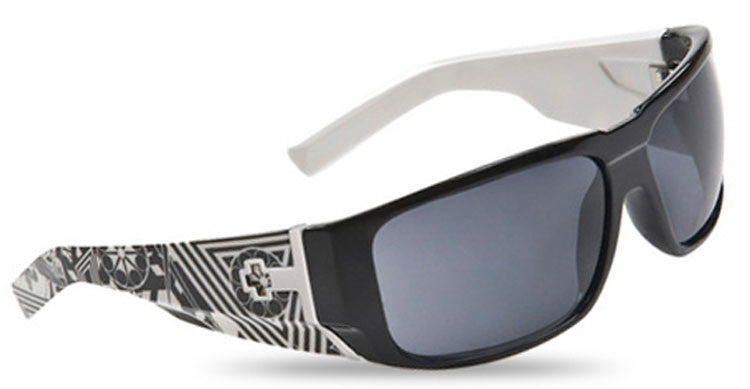 Spy Hailwood - Black White Crazy Temples Frame / Grey Lens - Sunglasses