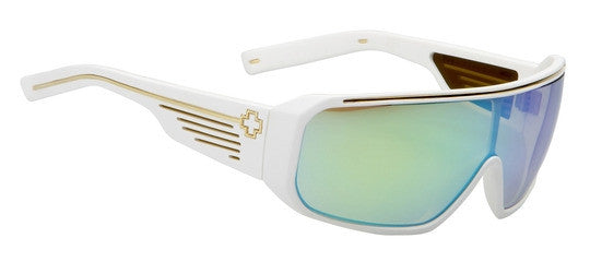 Spy Tron - Matte White Frame / Multi Layer Green Lens - Sunglasses