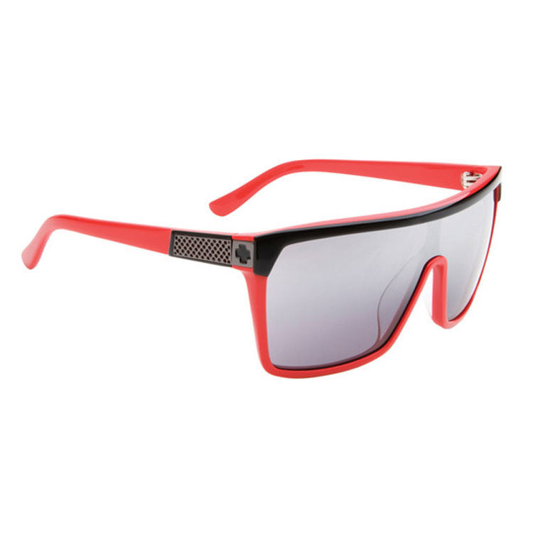 Spy Flynn - Shiny Black / Red Frame - Grey / Black Mirror Lens - Sunglasses