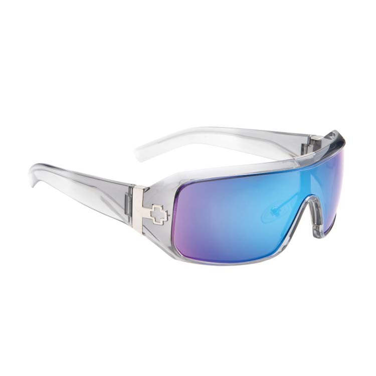 Spy Haymaker Men's - Clear Smoke Frame - Grey / Blue Spectra Lens - Sunglasses