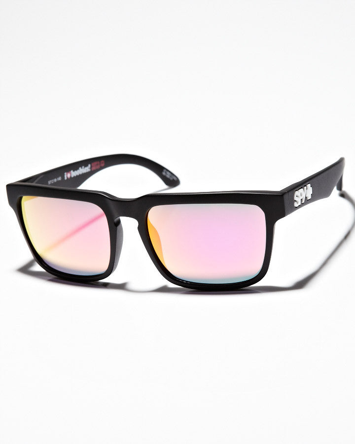 Spy Helm - KAB Grey Frame - Pink Lens - Sunglasses