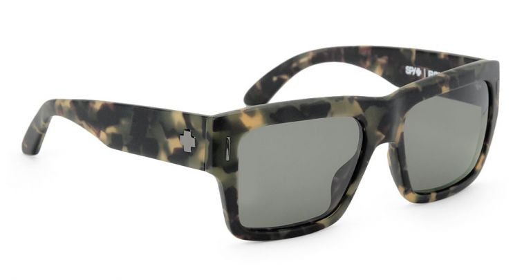 Spy Bowery - Matte Army Tortoise Frame - Grey/Green Lens - Sunglasses