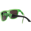 Creature Arachnids Square O/S - Black/Neon Green - Sunglasses