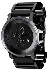 Vestal Plexi: Leather - Black - Mens Watch
