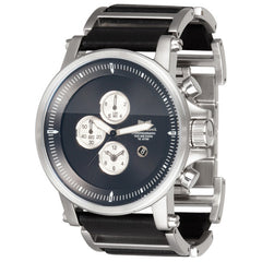 Vestal Plexi Leather - Silver - Mens Watch