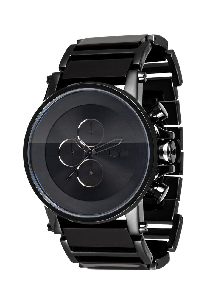 Vestal Plexi: Acetate Minimalist - Black - Mens Watch