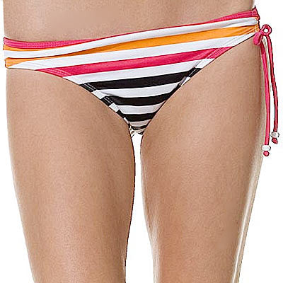 Hurley Ladies Swimwear Beckham Stripe Hipster Btm - Women's Swimwear - Medium