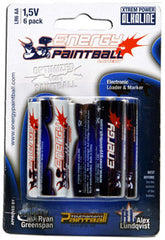 Energy Paintball AA Alkaline Battery - 6 Pack