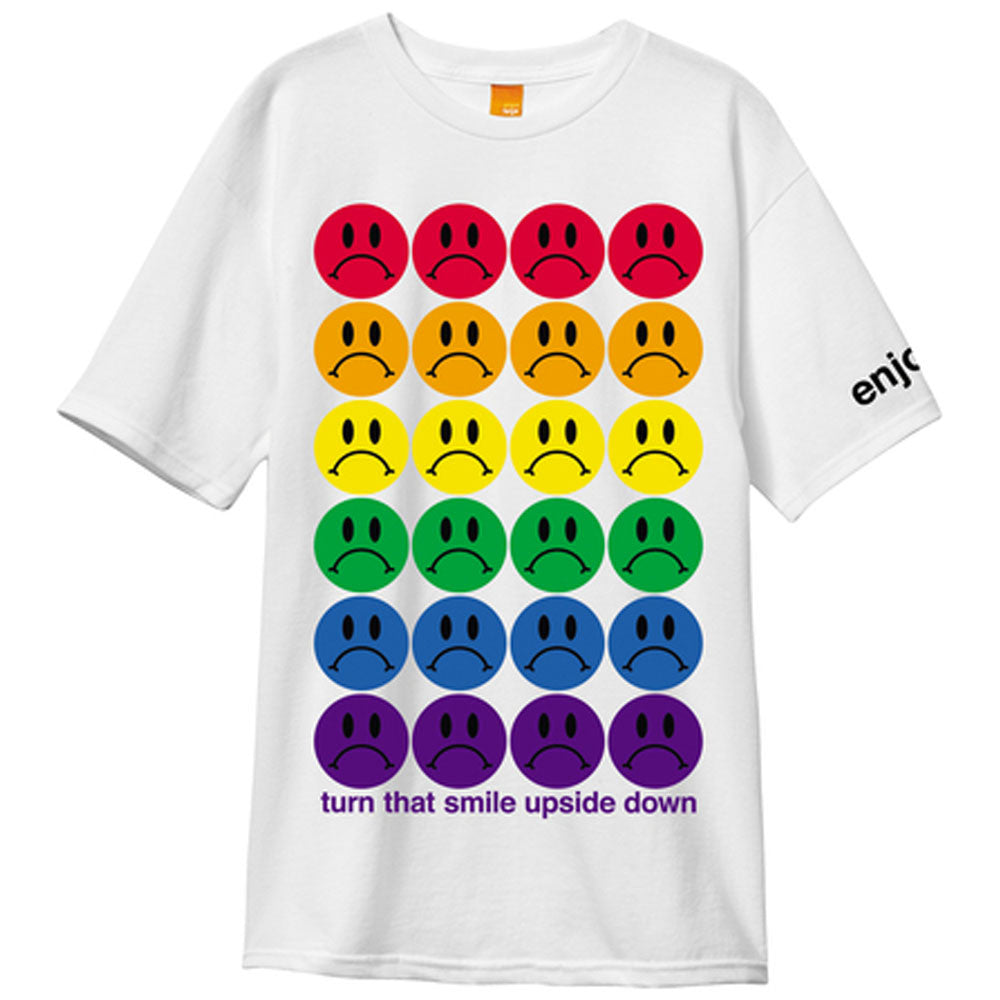Enjoi Frowny Faces S/S - White - Men's T-Shirt