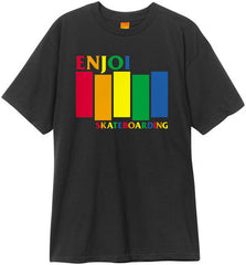 Enjoi Black Rainbow S/S - Black - Men's T-Shirt