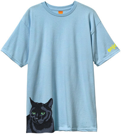 Enjoi Black Cat Premium - Powder Blue - Men's T-Shirt