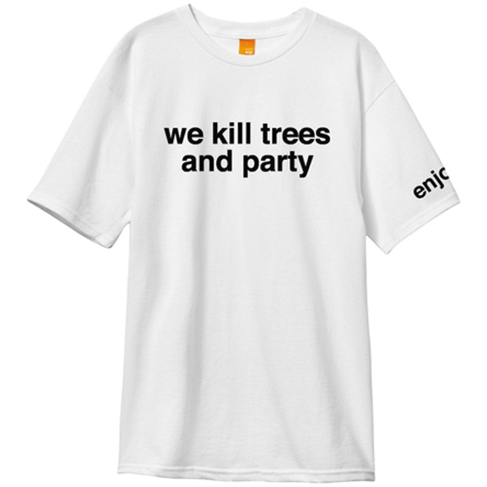 Enjoi We Kill Trees And Party S/S - White - Men's T-Shirt