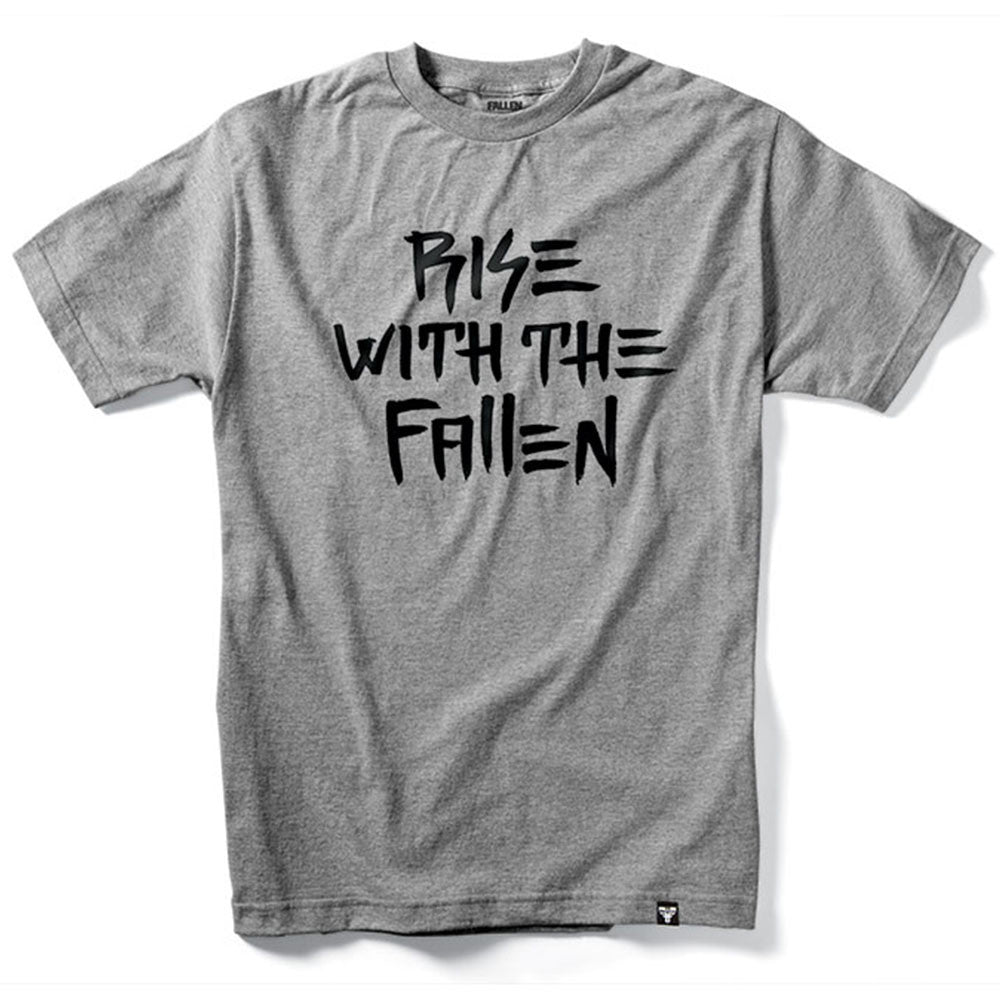 Fallen Rise With The Fallen S/S - Heather Grey - Men's T-Shirt