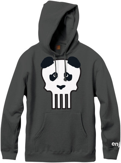 Enjoi Clark Skull P/O Hooded - Charcoal - Men's Sweatshirt