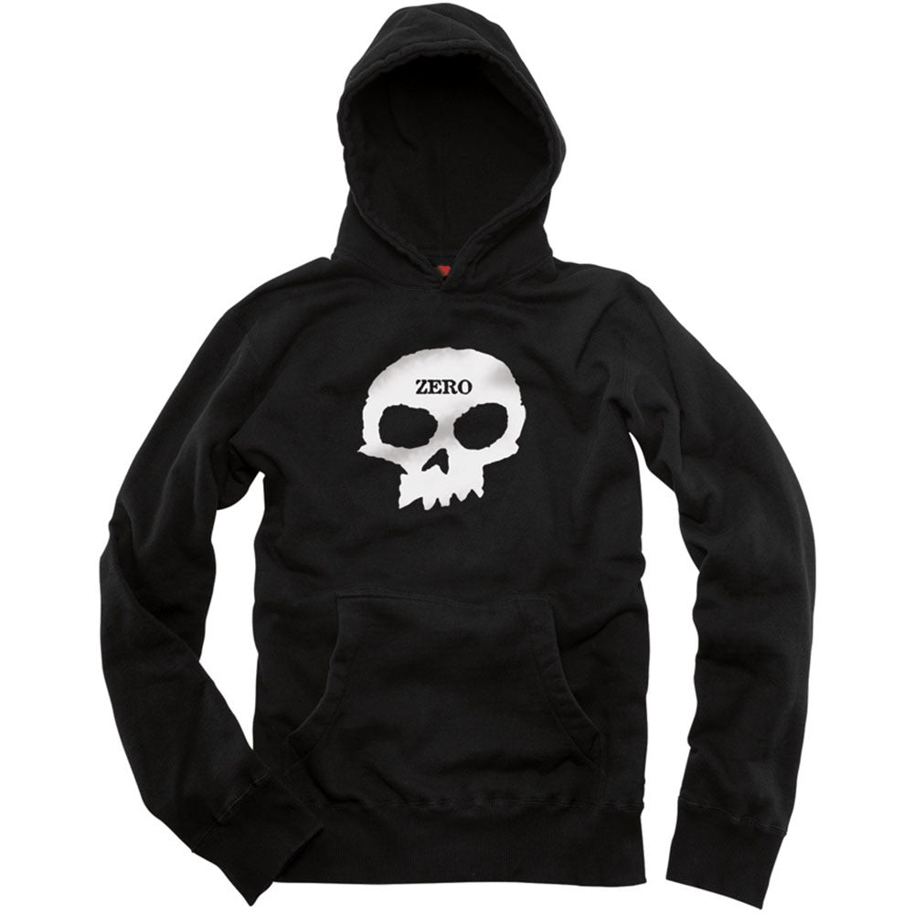 Zero Single Skull Pullover Hoodie - Black - Men's Sweatshirt