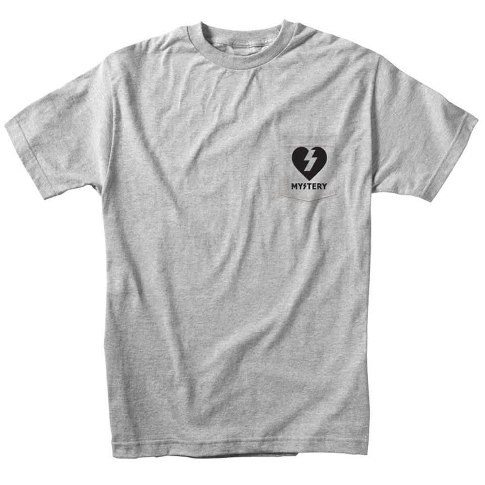 Mystery Heart Pocket S/S - Heather Grey - Men's T-Shirt