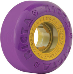 Ricta Chrome Core - Purple/Gold - 52mm 81b - Skateboard Wheels (Set of 4)