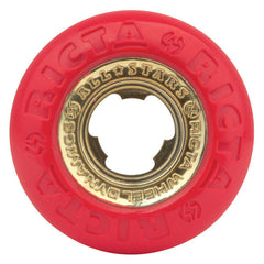 Ricta Chrome Core - Red/Gold - 53mm 81b - Skateboard Wheels (Set of 4)