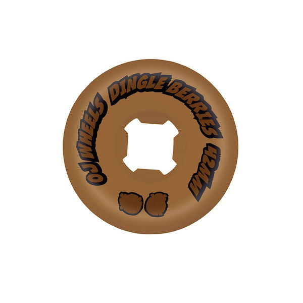OJ Dingle Berries - Brown - 42mm 100a - Skateboard Wheels (Set of 4)