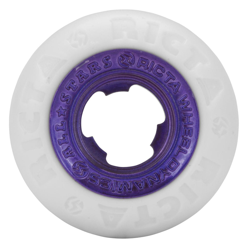 Ricta Nyjah Huston Chrome Core - White/Purple - 50mm 81b - Skateboard Wheels (Set of 4)