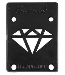 Diamond - Black - 1/8in - Skateboard Riser (2 PC)