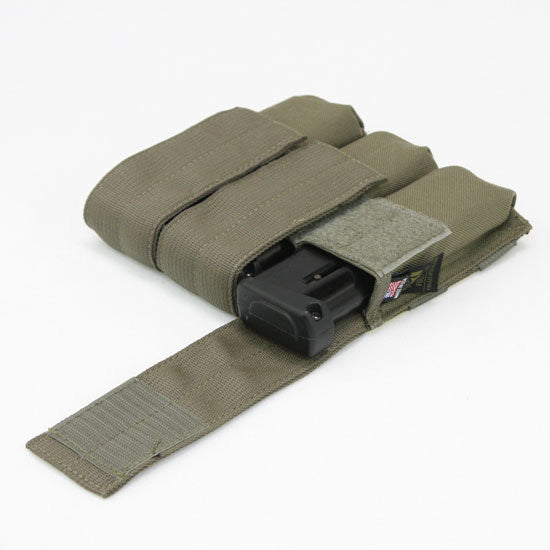 Full Clip Tiberius Triple Mag Pouch - Ranger Green