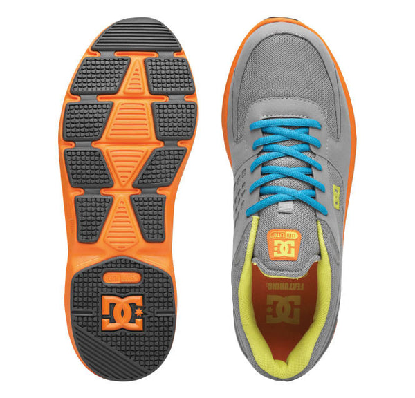 DC Boost - Wild Dove/ Orange - Mens Skateboard Shoes