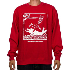 Alien Workshop UFO Dolphin - Red Heather - Men's Sweatshirt