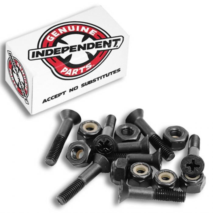 Independent Genuine Parts Phillips - Black - 1in - Skateboard Mounting Hardware