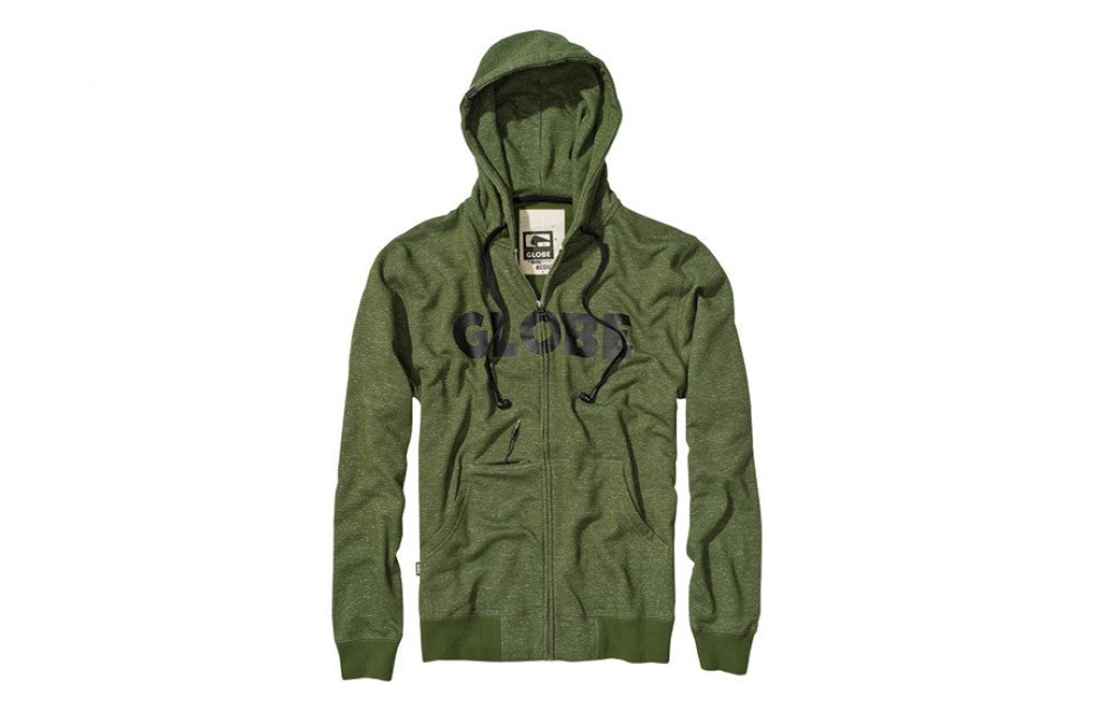 Globe Bartley Headphone Hoodie w/ Built in Earbuds - Field Green - Mens Sweatshirt