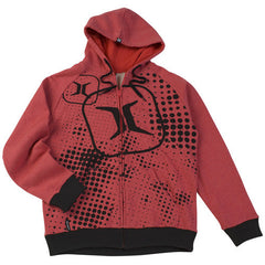 Invert 2011 Halftone Hooded Sweatshirt ZE - Red