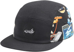 Cliche Travel Cap Strapback - Black/Multi - Men's Hat