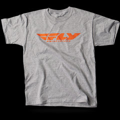 Fly Racing Corporate Tee - Grey - Mens T-Shirt