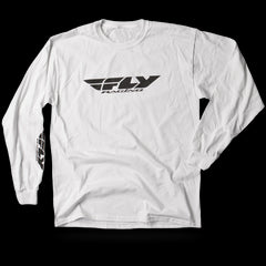 Fly Racing Corporate Tee L/S - White - Mens T-Shirt