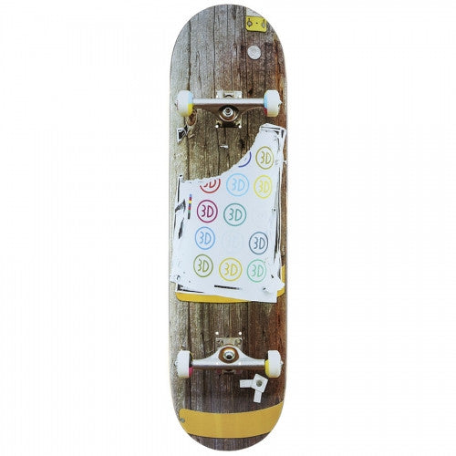3D Telephone Pole - Brown - 8.0 - Skateboard Deck