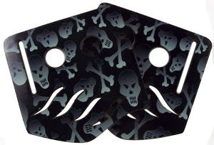 Stinger Paintball Designs Custom Soft Ears - Skulls 1 - Grey/Black