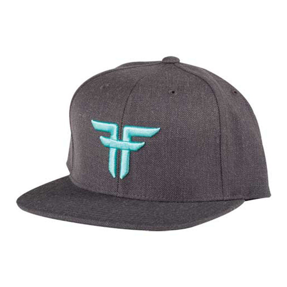Fallen Trademark Starter Cap Snapback - Heather Charcoal/Afterburn - Men's Hat