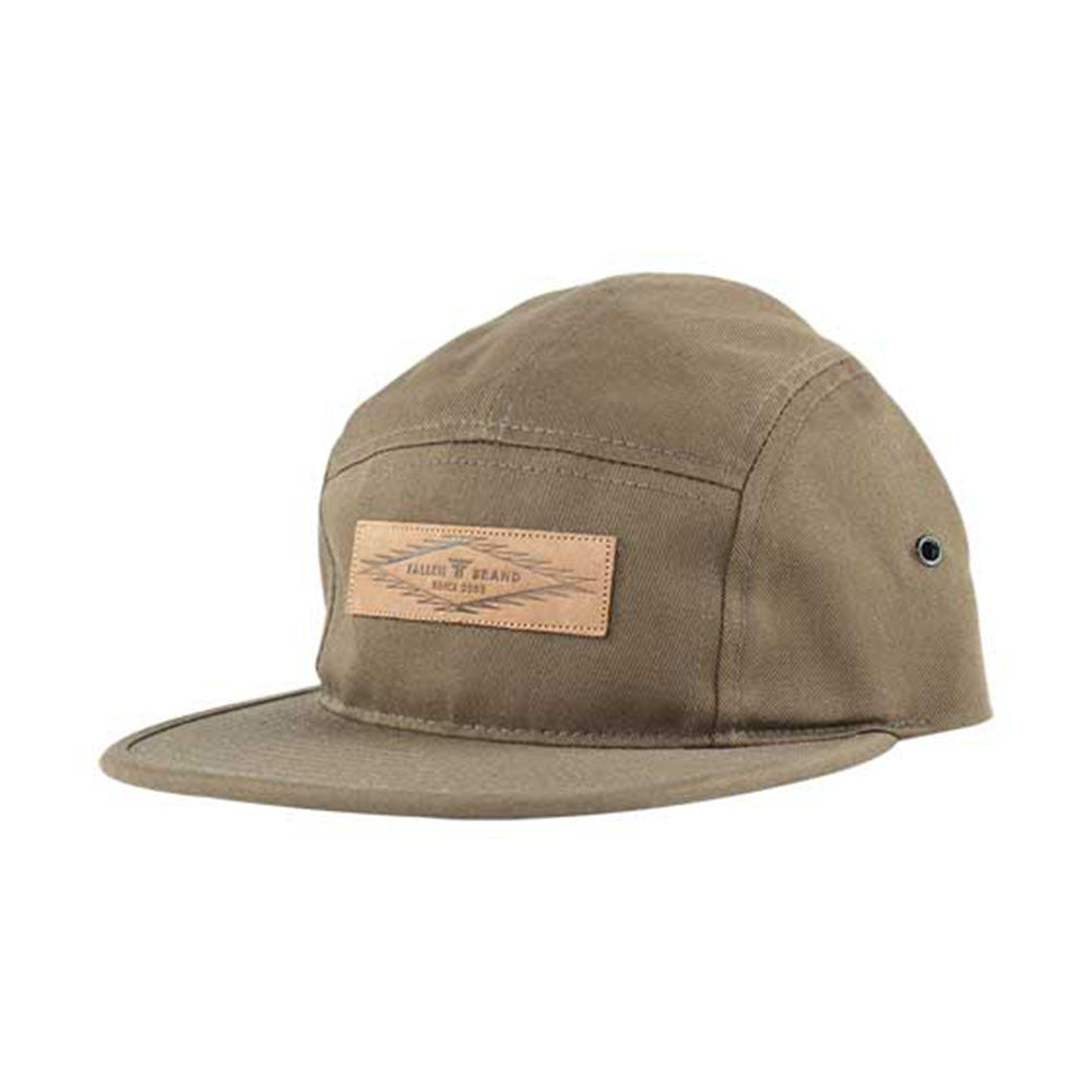 Fallen Aztec 5 Panel Snapback - Surplus Green - Men's Hat