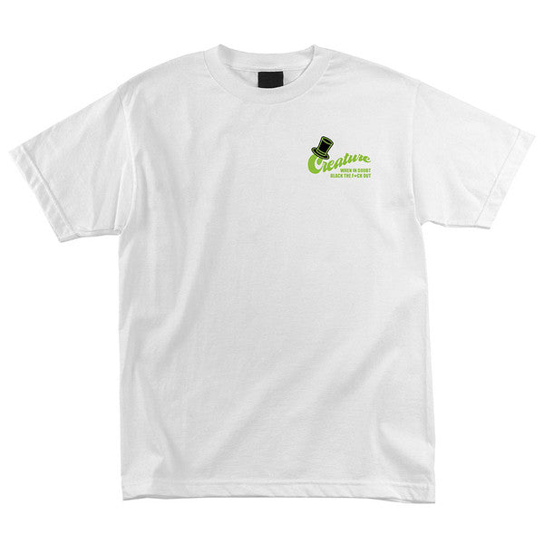 Creature Drinking Club Regular S/S - White - T-Shirt