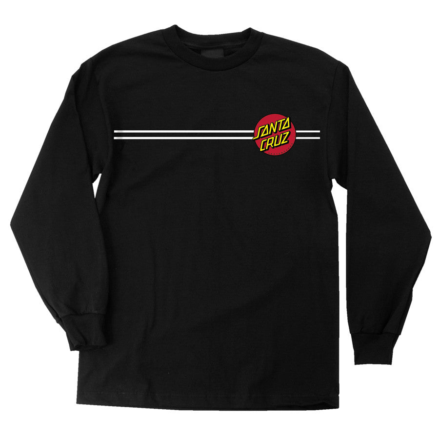 Santa Cruz Classic Dot Regular L/S - Black - Men's T-Shirt